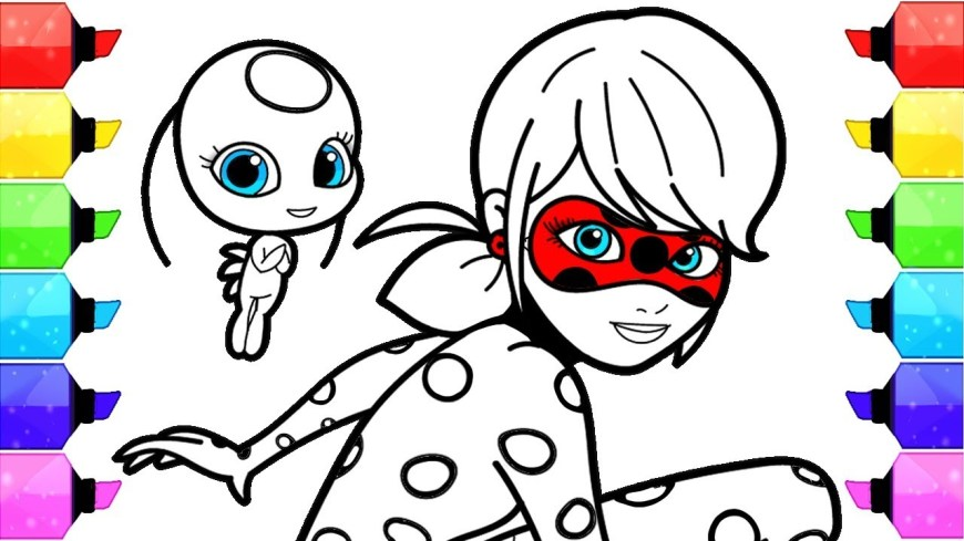 Ladybug And Cat Noir Coloring Pages Miraculous Ladybug Coloring Pages How To Draw And Color Ladybug