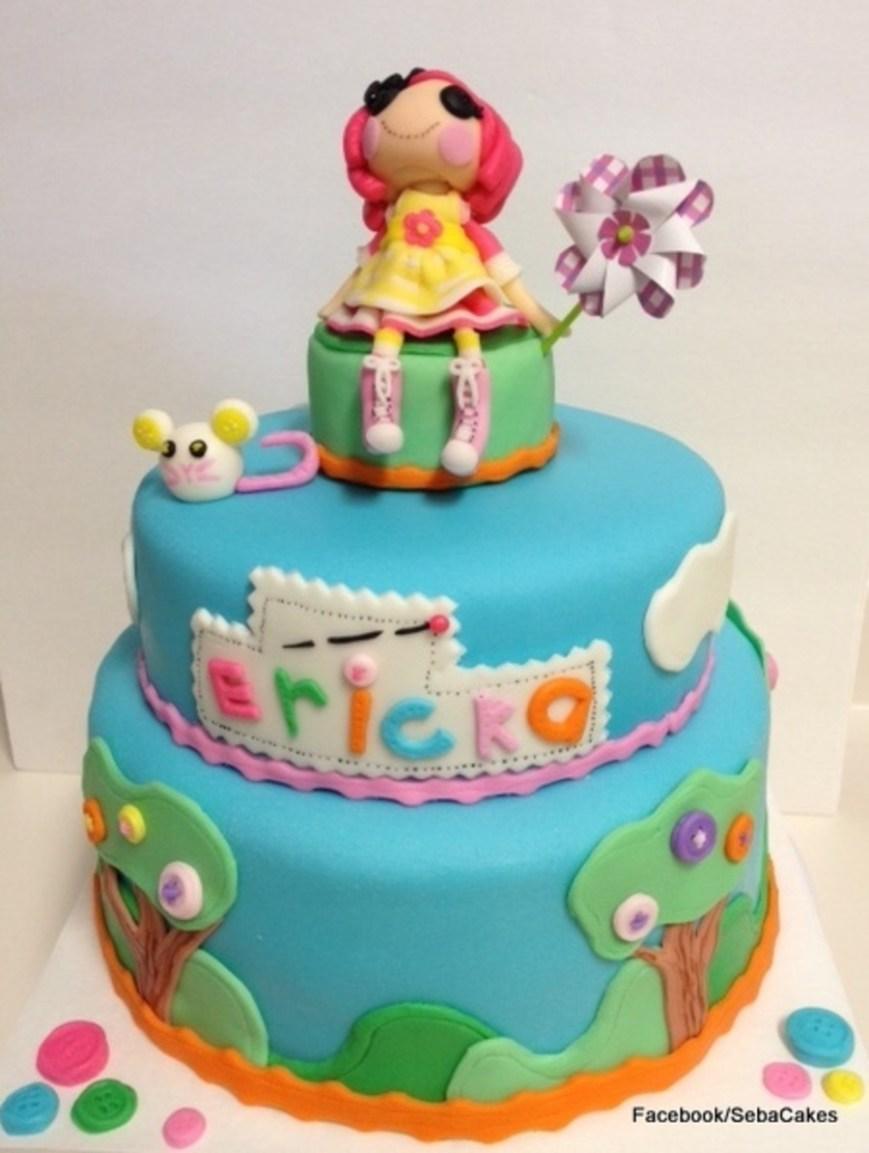 Lalaloopsy Birthday Cake Lalaloopsy Birthday Cake Fondant Accents Cakecentral