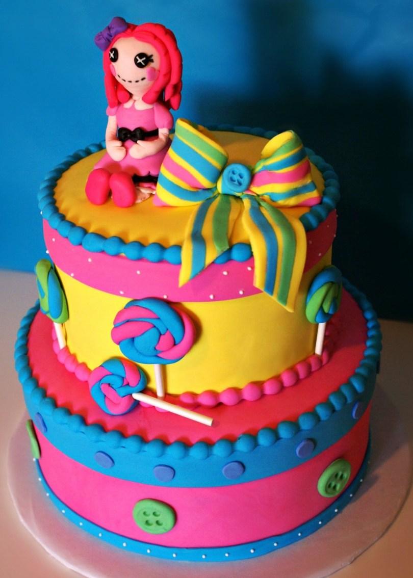 Lalaloopsy Birthday Cake Lalaloopsy Cake Cakes Pinterest Lalaloopsy Cake And Colourful