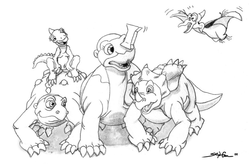 Land Before Time Coloring Pages Land Before Time Coloring Pages With Wallpapers Iphone On Characters