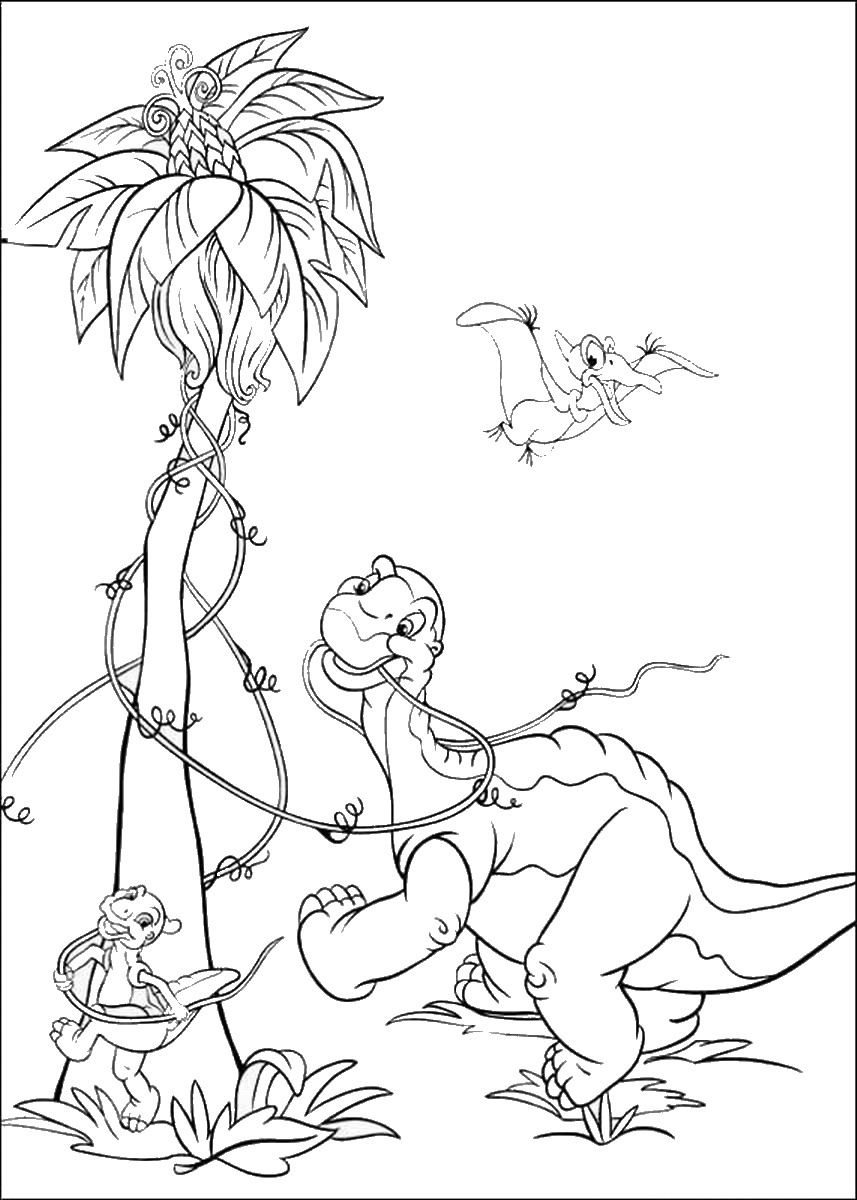 Land Before Time Coloring Pages The Land Before Time Coloring Pages