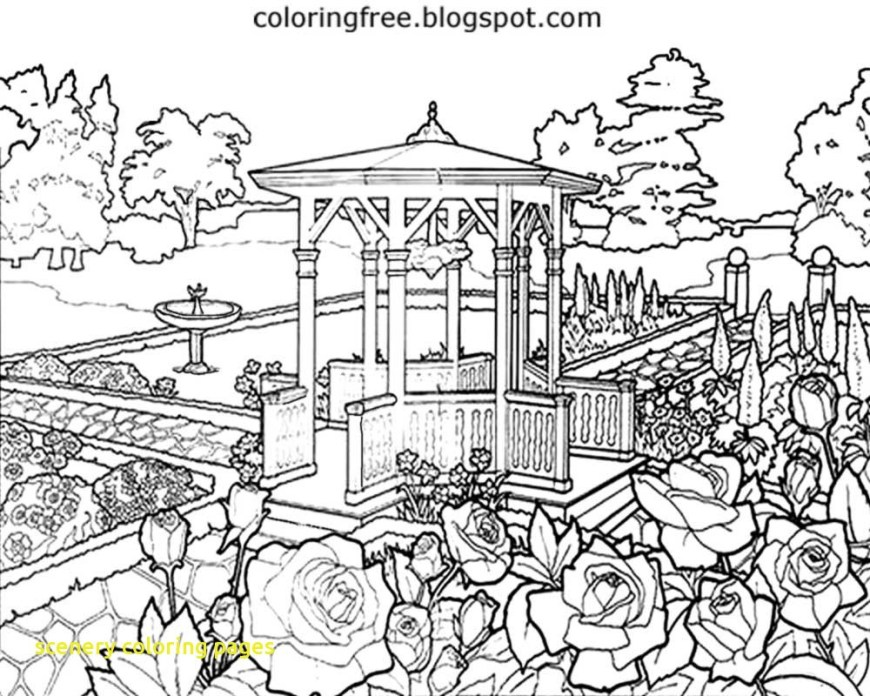 Landscape Coloring Pages Landscape Coloring Pages Landscapes To Color 2 For Adults Best Of