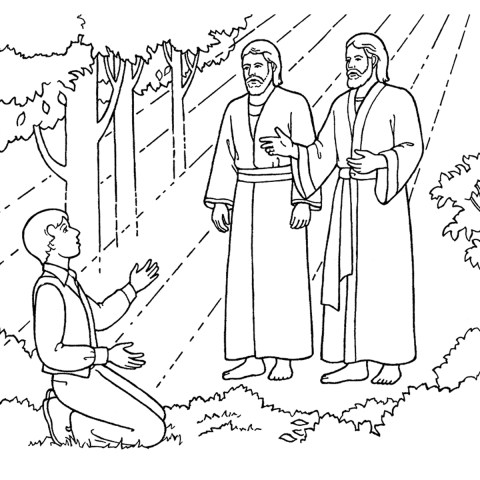 Lds Coloring Pages The First Vision Joseph Sees God The Father And Jesus Christ