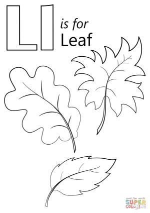 Leaf Coloring Pages Letter L Is For Leaf Coloring Page Free Printable Coloring Pages