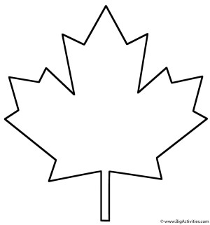 Leaf Coloring Pages Maple Leaf Coloring Page Plants