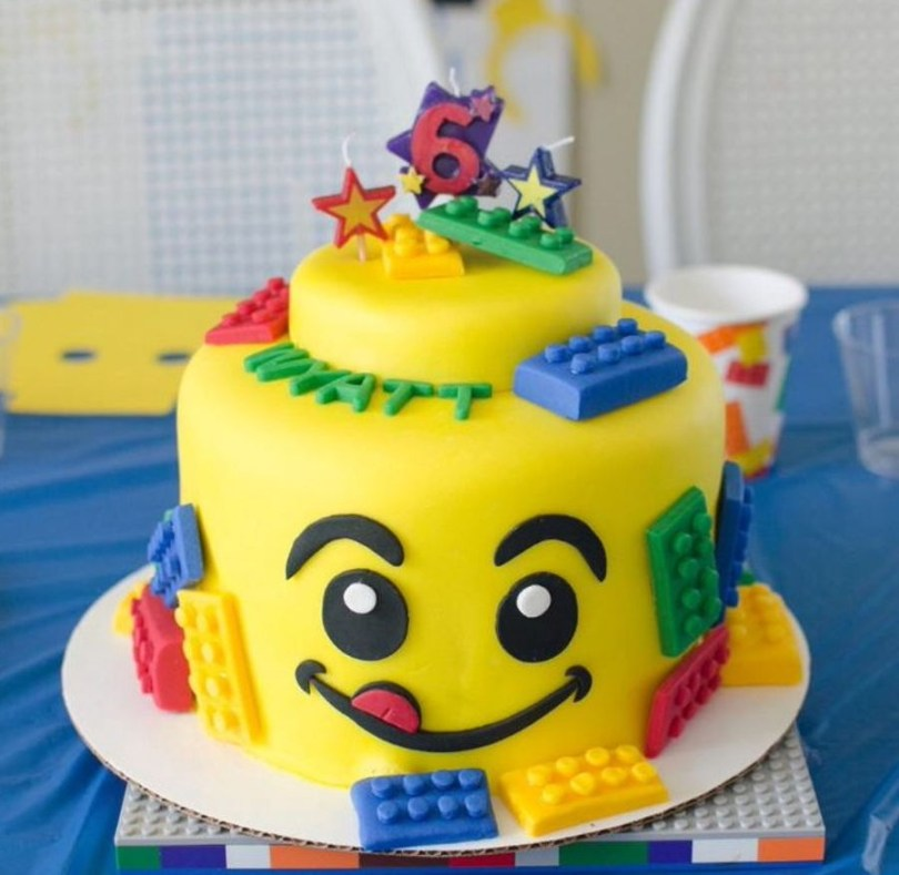 Lego Birthday Cake Lego Cake For 6th Birthday Party Cakecentral