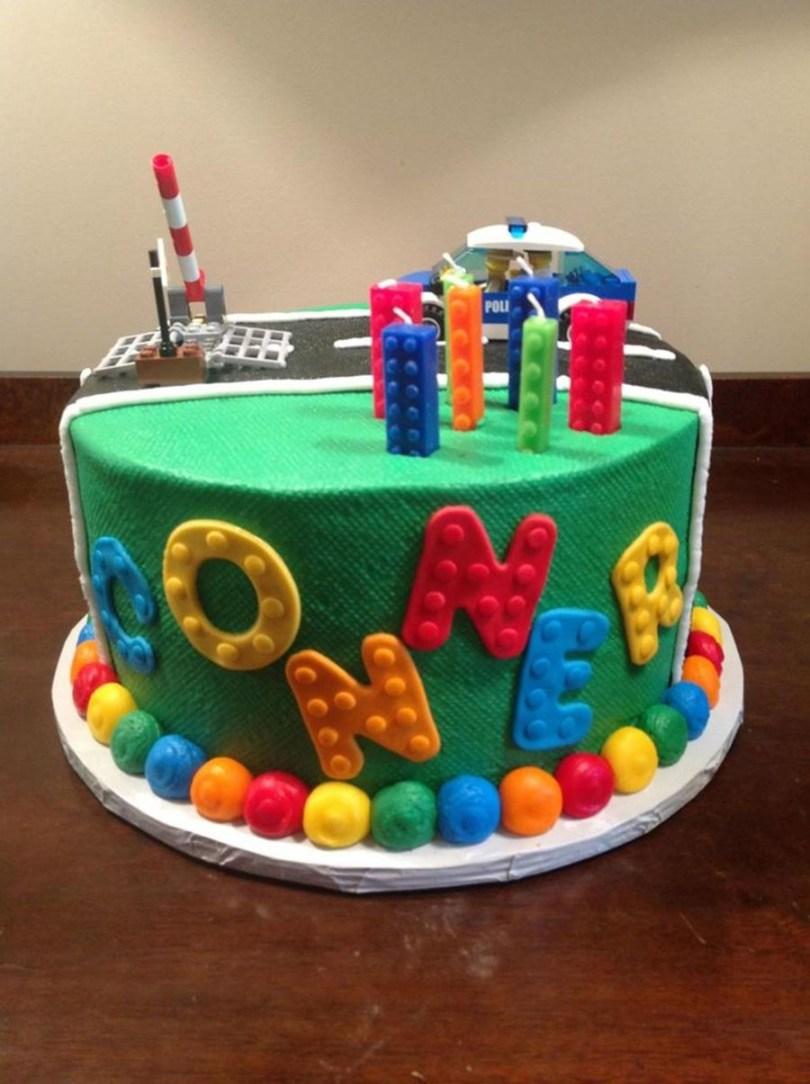 Lego Birthday Cake Lego Police Themed Birthday Cake Cakecentral