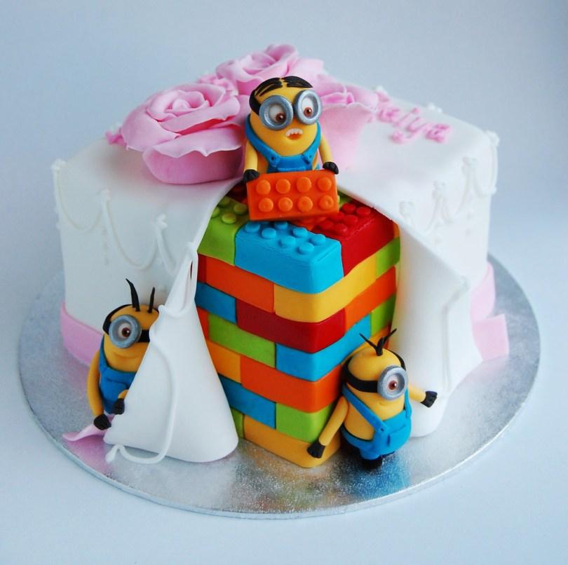 Lego Birthday Cake Minion Lego Birthday Cake Charmchang Flickr