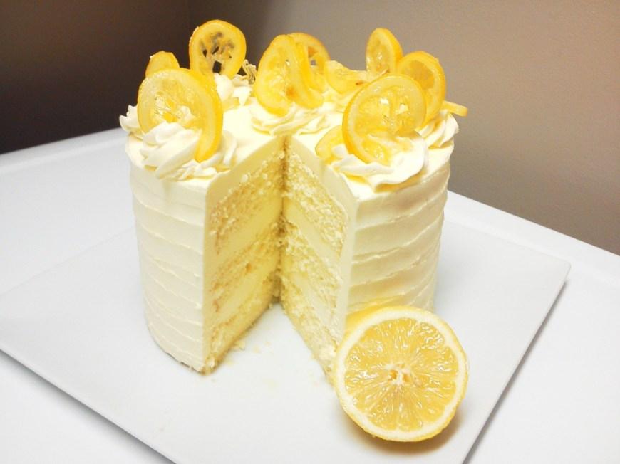 Lemon Birthday Cake Lemon Chiffon Layer Cake Cake Delivery Order Cake Online Cakes
