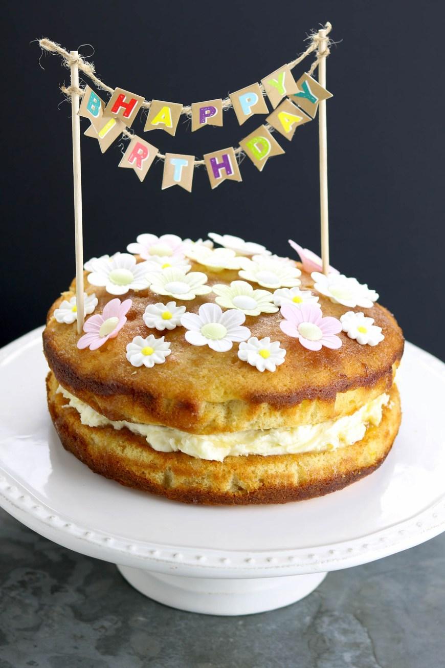 Lemon Birthday Cake Lemon Drizzle Birthday Cake The Last Food Blog