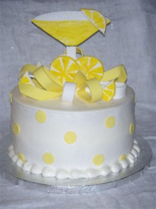 Lemon Birthday Cake Lemon Drop Martini Birthday Cake Cakecentral
