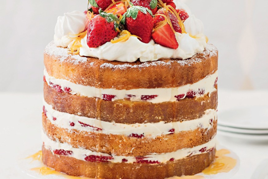 Lemon Birthday Cake Naked Lemon Meringue Cake With Lemon Syrup
