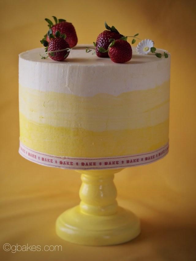 Lemon Birthday Cake Strawberry Lemon Thyme Chiffon Birthday Cake