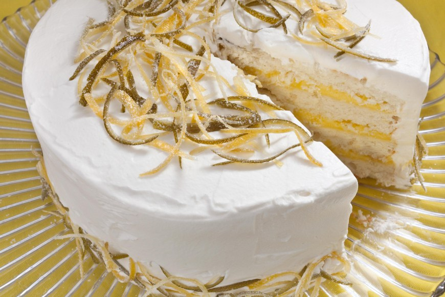 Lemon Birthday Cake White Cake With Lemon Lime Curd Filling And Whipped Cream Frosting