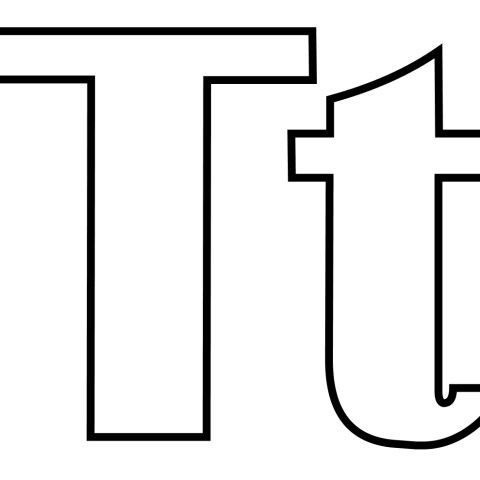 Letter T Coloring Page Letter T Coloring Pages Free Coloring Pages