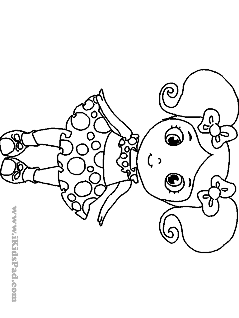 Little Girl Coloring Pages Coloring Pages Girls Little Girl Page Heavenly At Animage Me 768