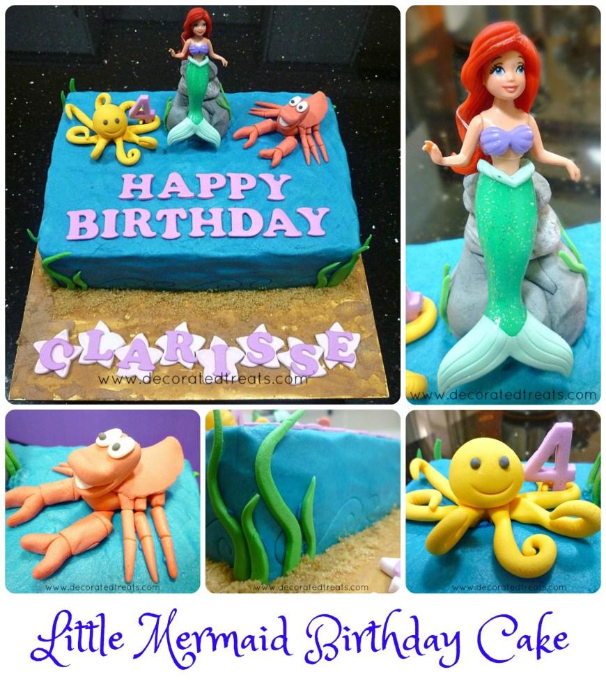 Little Mermaid Birthday Cake Ariel The Little Mermaid Birthday Cake Idea