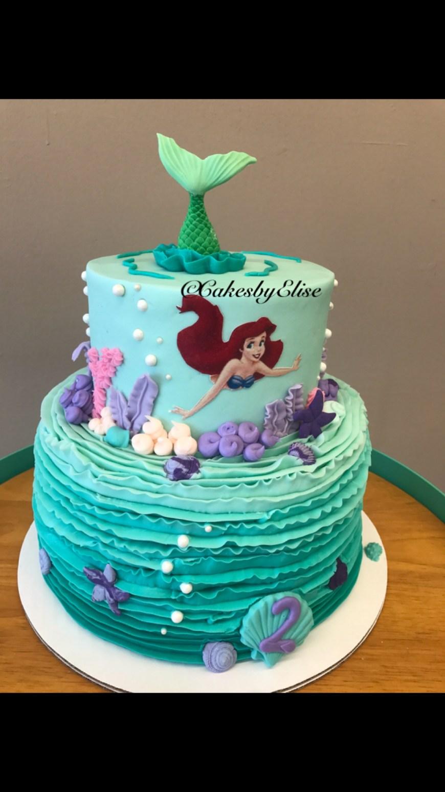 Little Mermaid Birthday Cake Little Mermaid Cake Little Mermaid Swimming Cake Future Ba