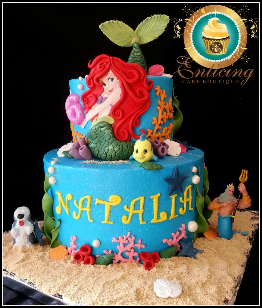 Little Mermaid Birthday Cake My Little Mermaid Cakecentral