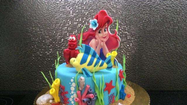 Little Mermaid Birthday Cake The Little Mermaid Birthday Cake Youtube