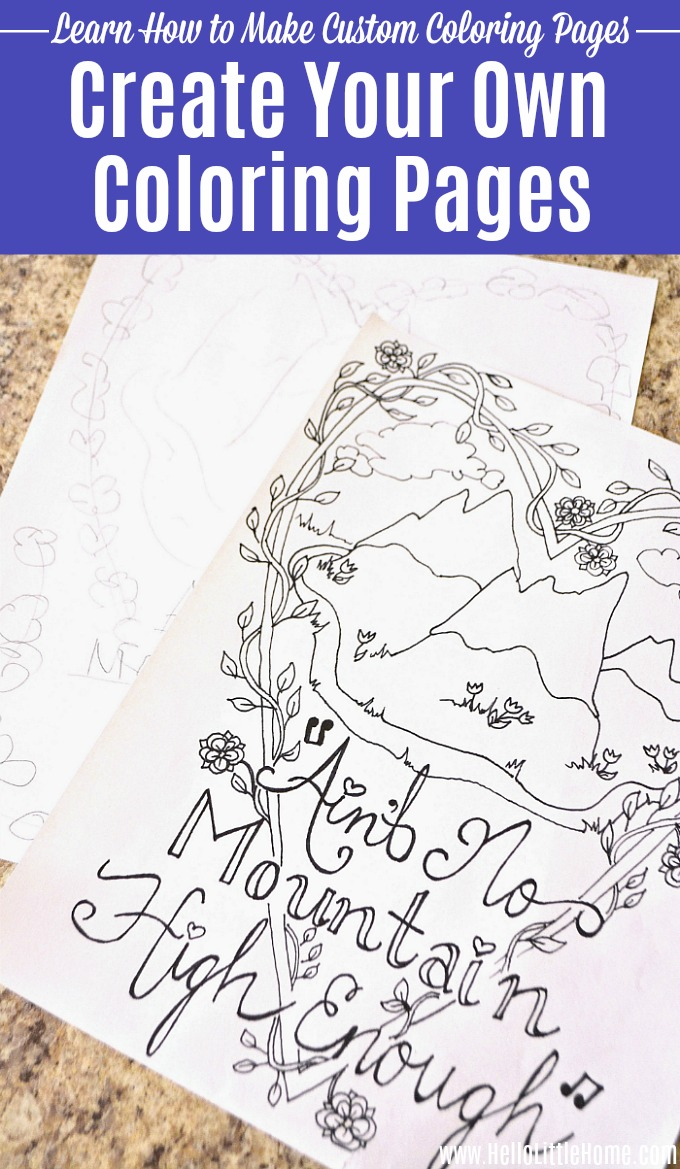 Make Your Own Coloring Pages With Words Create Your Own Coloring Pages A Step Step Guide Hello
