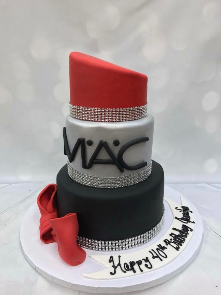 Makeup Birthday Cake Mac Lipstick Makeup Birthday Cake