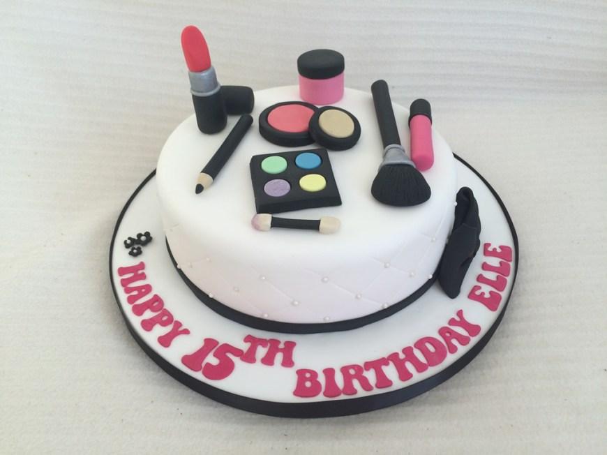 Makeup Birthday Cake Make Up Birthday Cake Cake Creations
