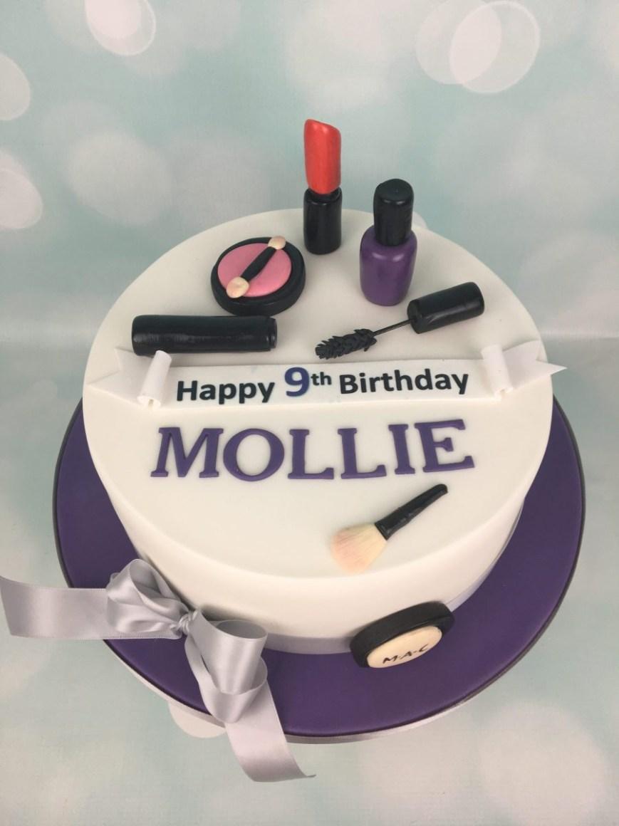 Makeup Birthday Cake Makeup Birthday Cake Mels Amazing Cakes