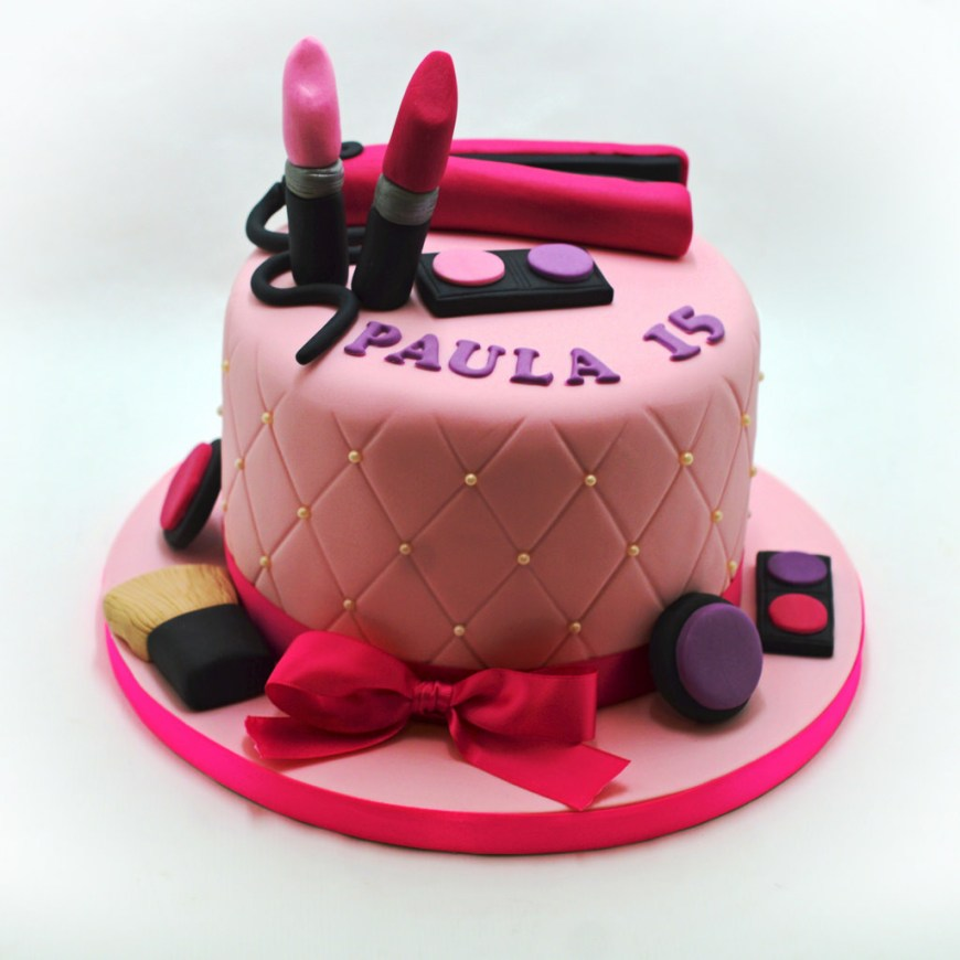 Makeup Birthday Cake Makeup Birthday Cake Patricia Creative Cakes