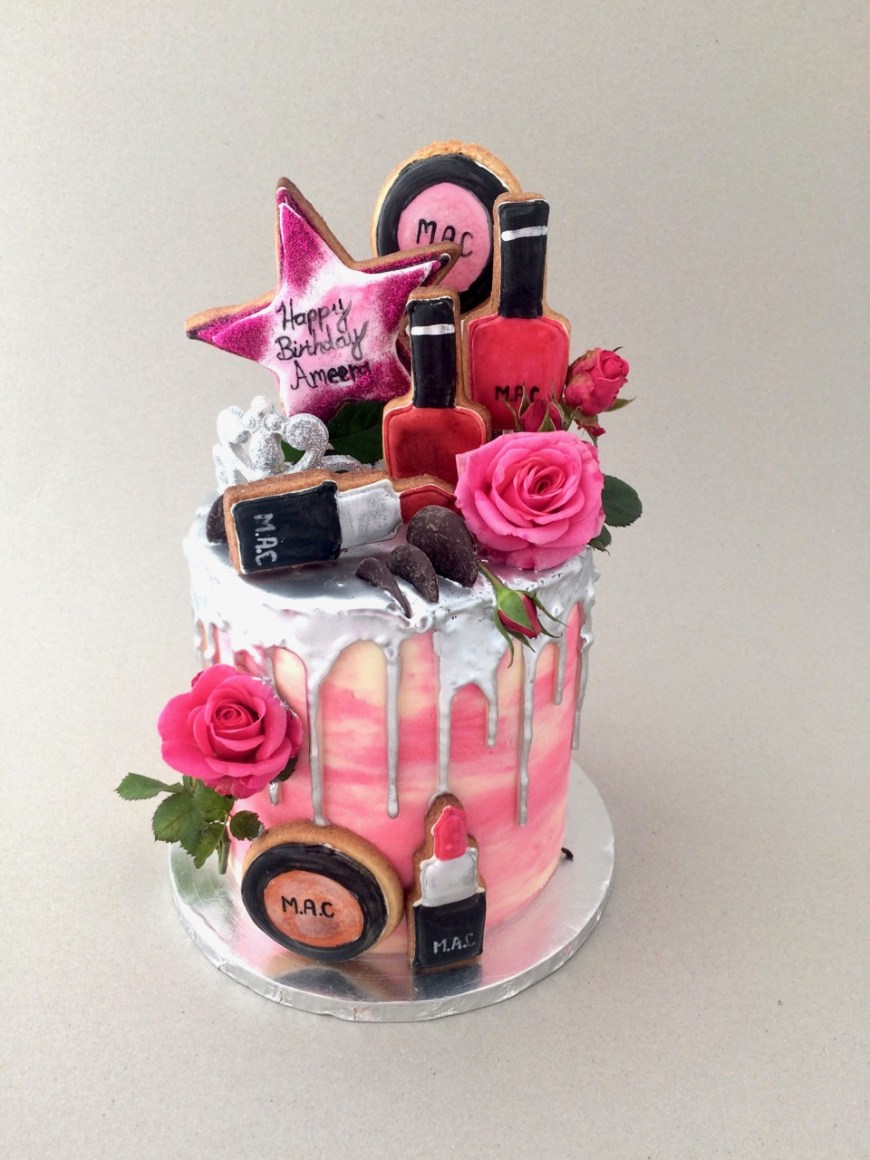 Makeup Birthday Cake Rozannes Cakes Make Up Birthday Cake For Ameera