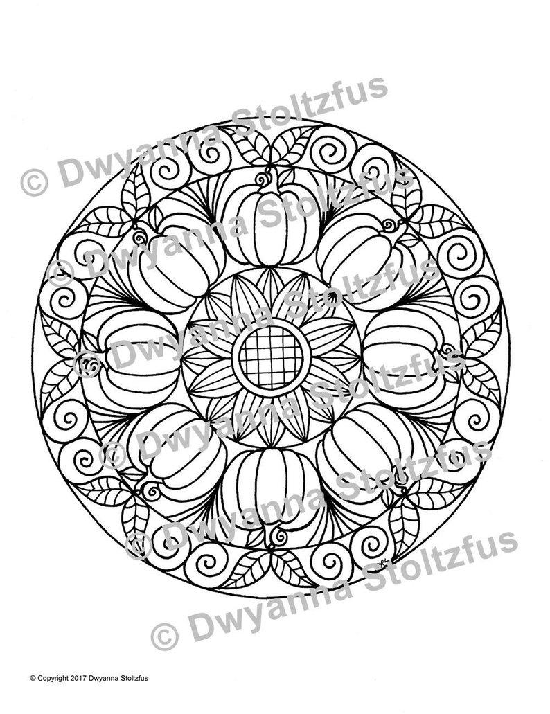 Mandala Coloring Page 8 Krbis Mandala Coloring Page Jpg Etsy