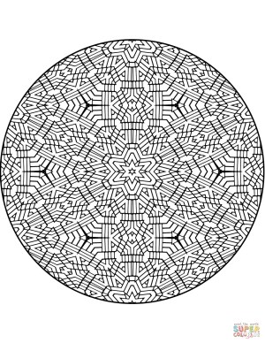 Mandalas Coloring Pages Advanced Mandalas Coloring Pages Free Coloring Pages