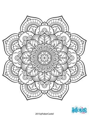 Mandalas Coloring Pages Mandala Coloring Pages Hellokids