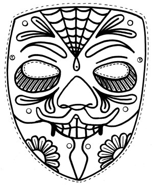 Mask Coloring Pages Free Printable Mask Coloring Pages For Kids