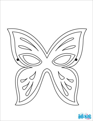 Mask Coloring Pages Masks And Masquerade Coloring Pages Hellokids