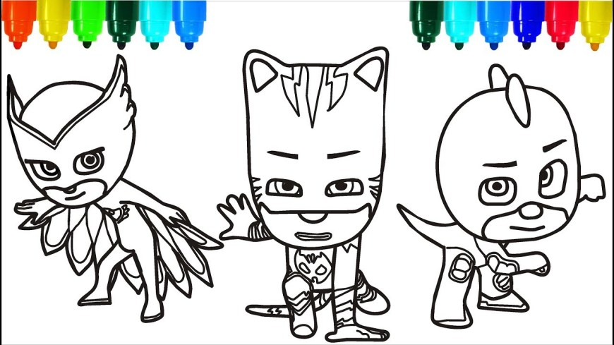 Mask Coloring Pages Pj Masks Santa Claus Coloring Pages Colouring Pages For Kids With