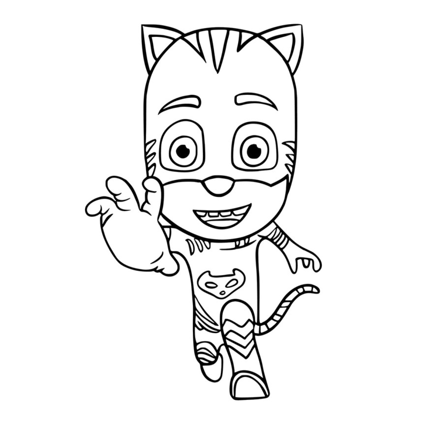 Mask Coloring Pages Unique Pj Mask Coloring Sheets Spurl