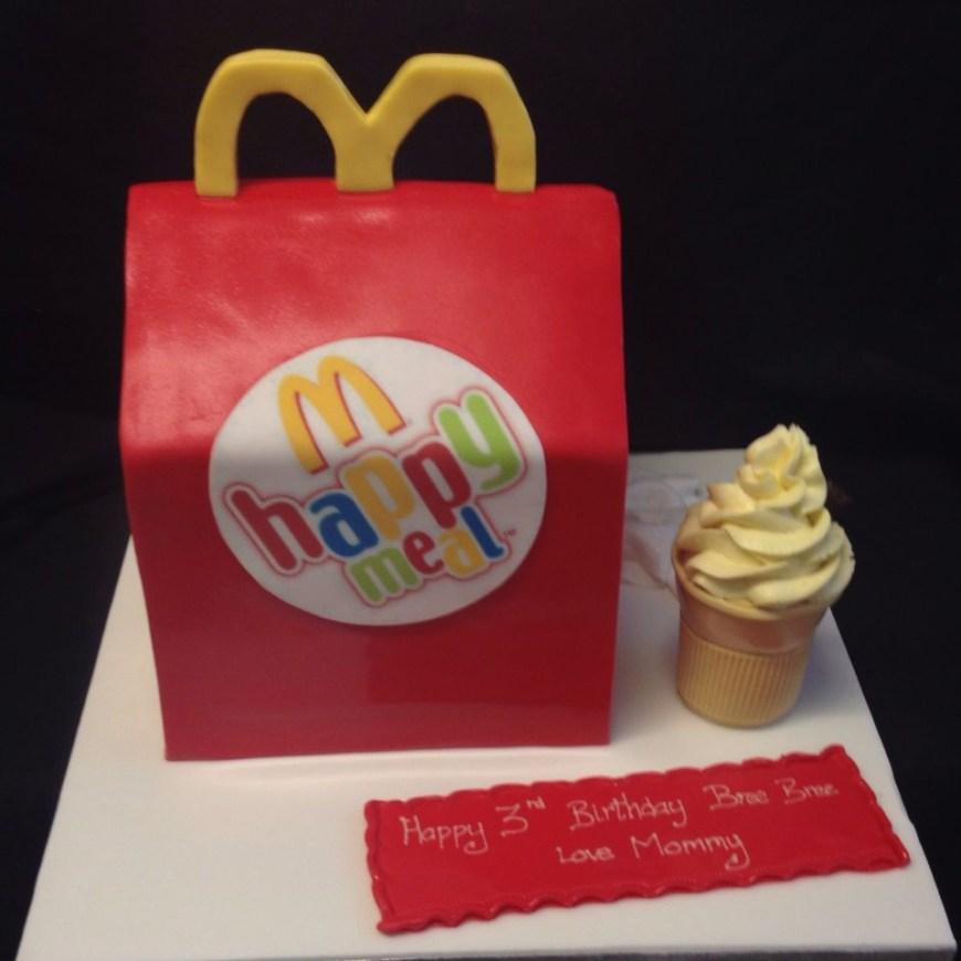 Mcdonalds Birthday Cake Mcdonalds Happy Meal Cake With Ice Cream Party Ideas Cake