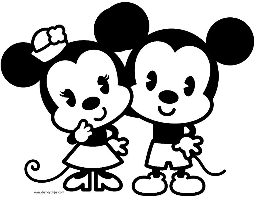 Mickey And Minnie Coloring Pages Disney Cuties Coloring Pages Phototoon Me