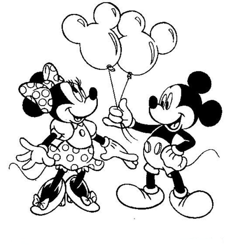 Mickey And Minnie Coloring Pages Mickey And Minnie Mouse Coloring Pages Coloring Pages For Kids