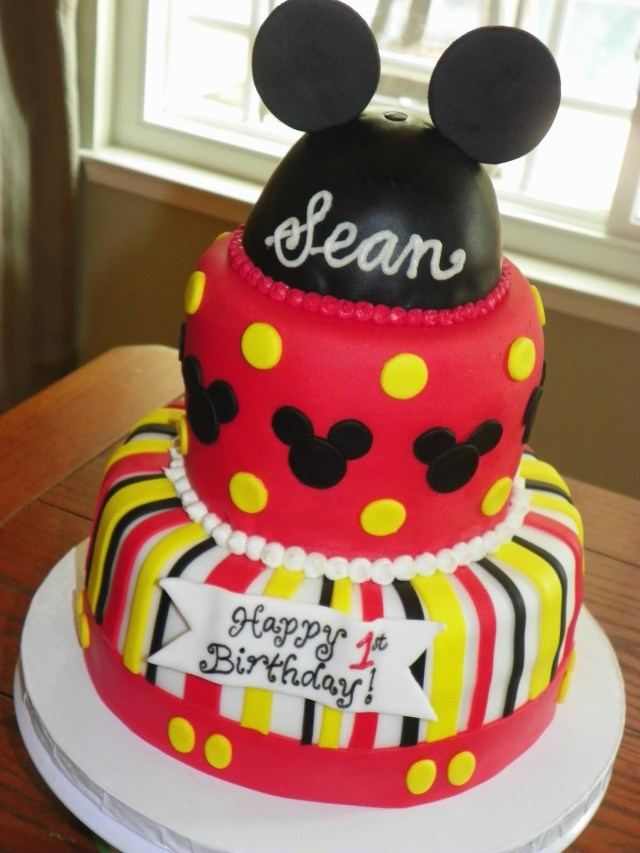 Mickey Birthday Cake 44 Unique Mickey Mouse 1st Bday Cake Gallery The Best Cake