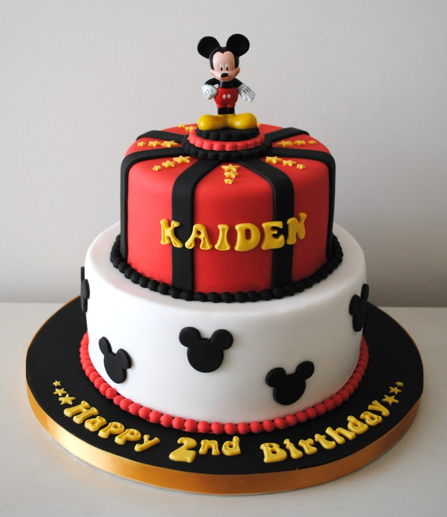 Mickey Birthday Cake Miss Cupcakes Blog Archive Mickey Mouse Birthday Cake