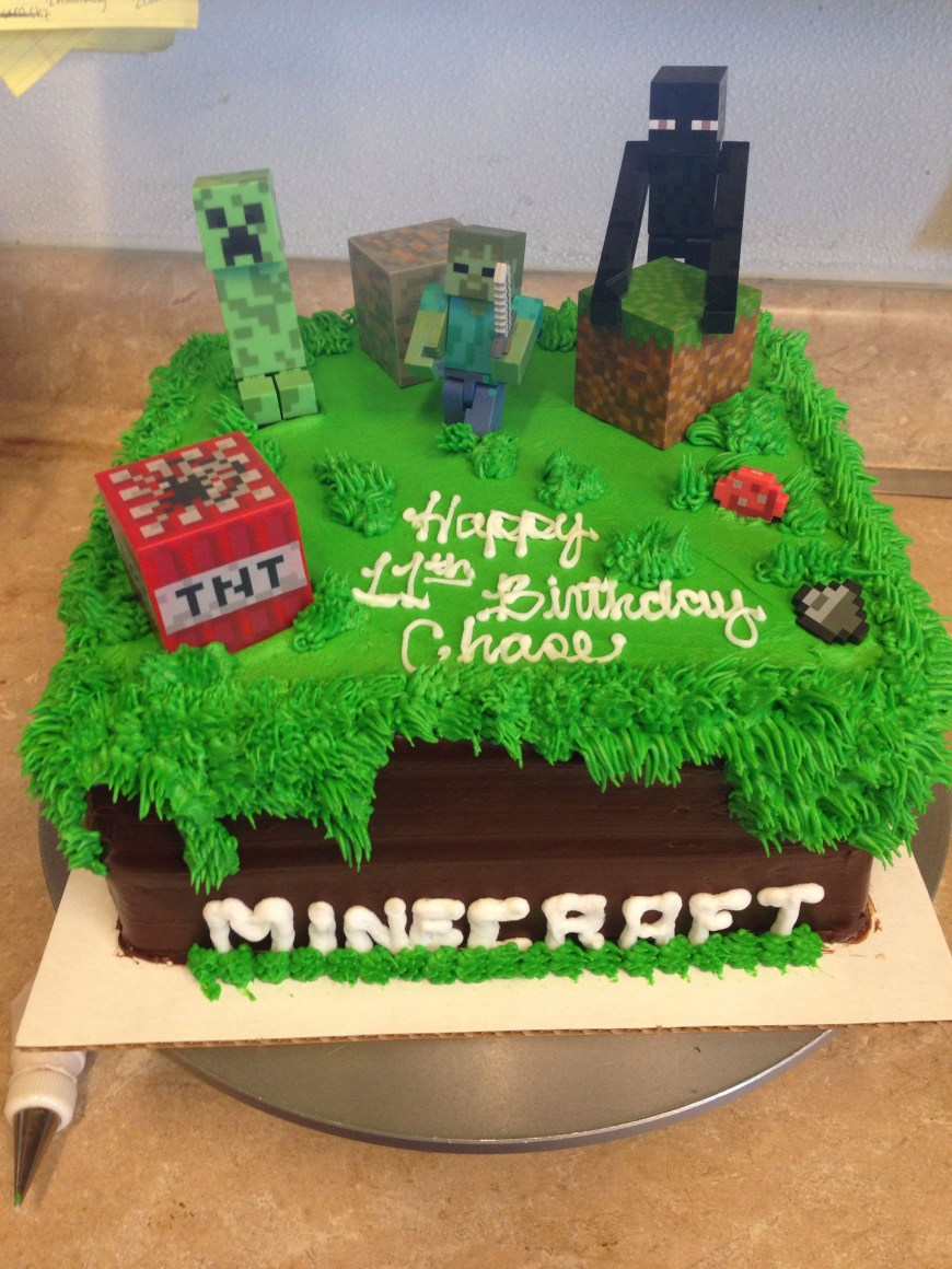 Minecraft Birthday Cake Ideas Another Minecraft Cake My Cakes And Things Pinterest