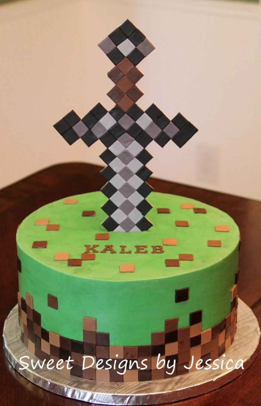 Minecraft Birthday Cake Ideas Minecraft Themed Cake Minecraft Cakes Minecraft Cake Minecraft