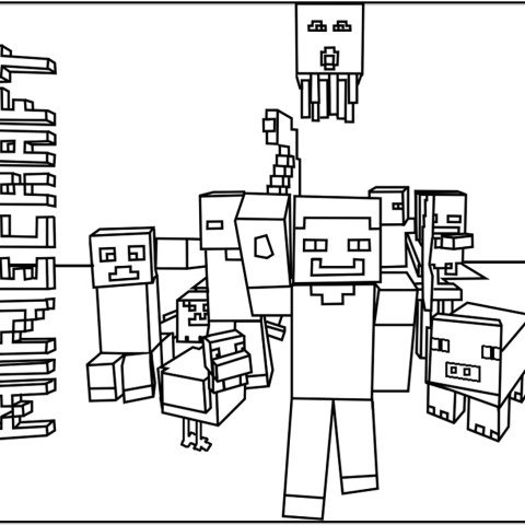 Minecraft Coloring Pages Minecraft Free To Color For Kids Minecraft Kids Coloring Pages