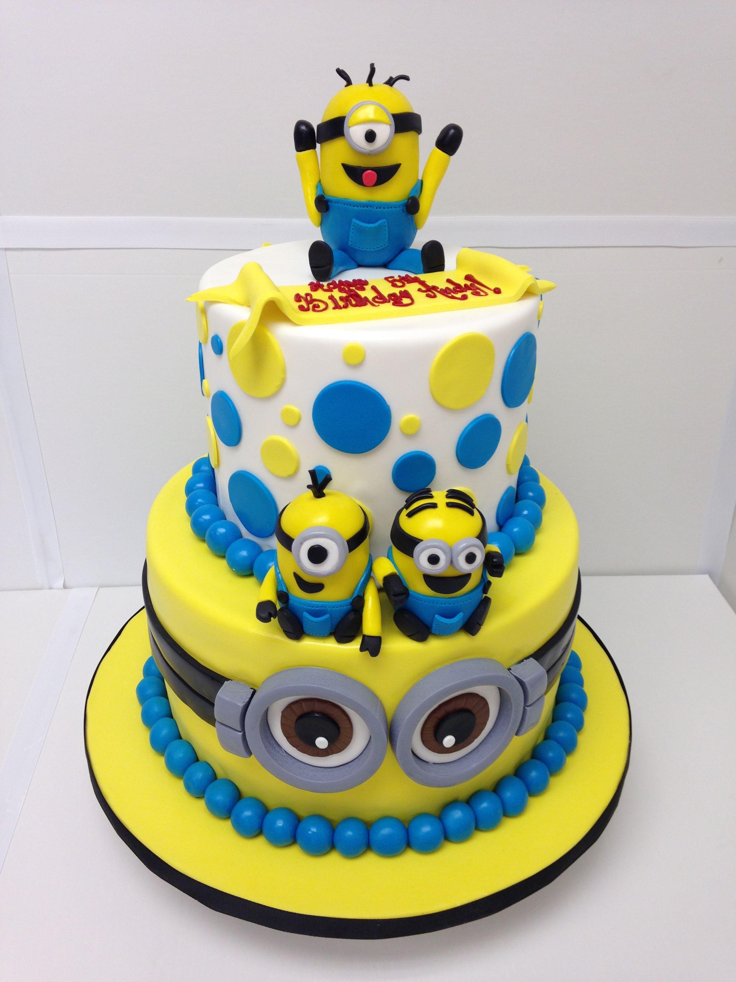 25 Elegant Image Of Minions Birthday Cakes Davemelillo Com