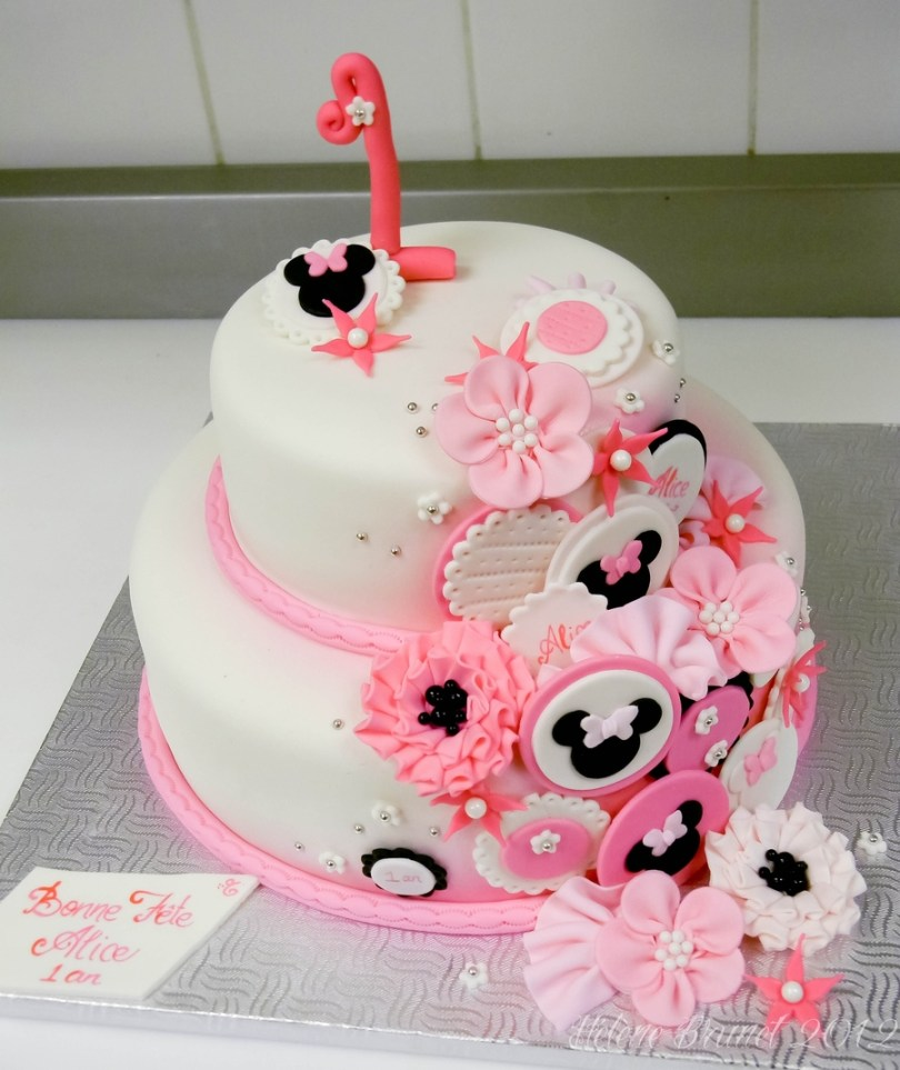Minnie Mouse Birthday Cake 1st Birthday Minnie Mouse Inspired Cake Cakecentral