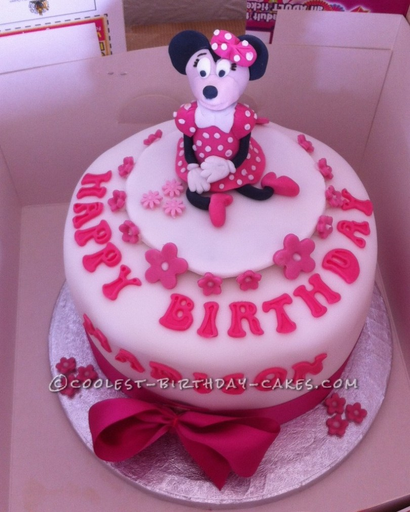 Minnie Mouse Birthday Cake Ideas Coolest Minnie Mouse Birthday Cake Idea
