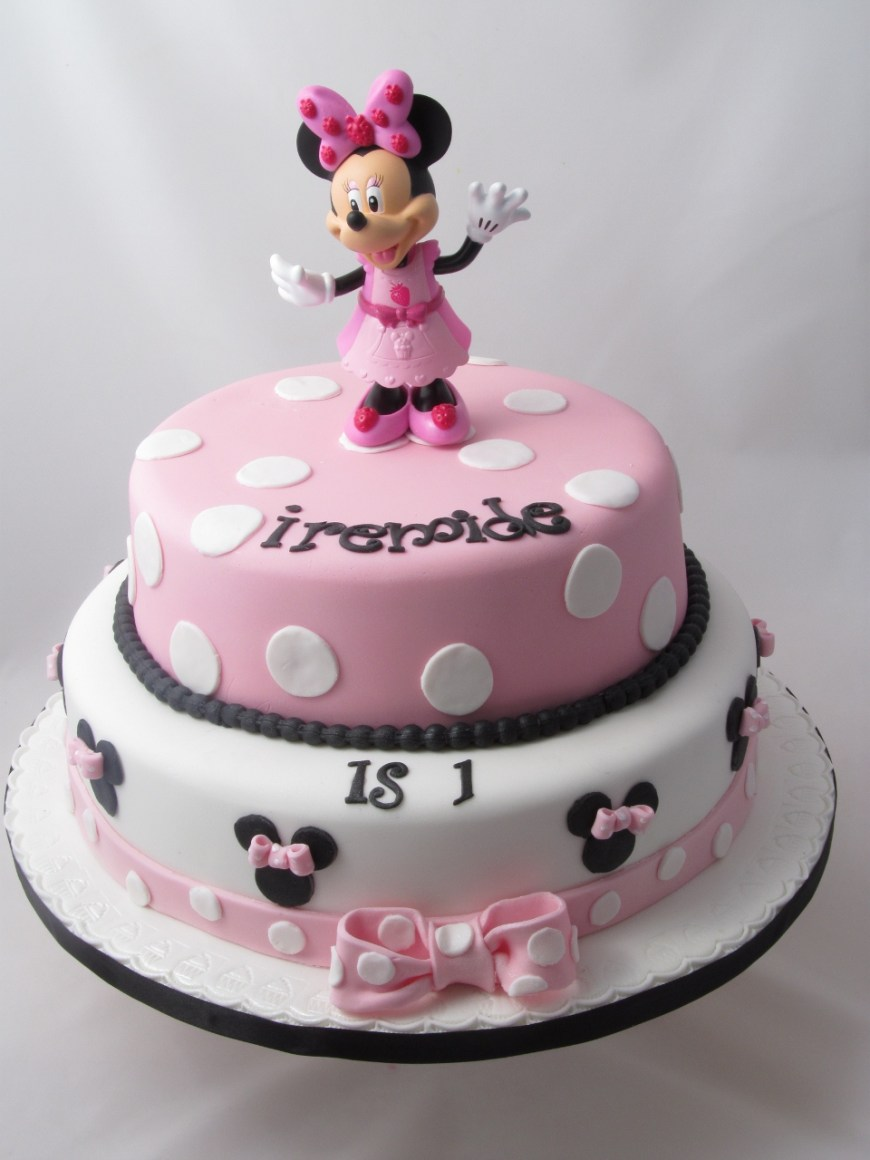 Minnie Mouse Birthday Cake Minnie Mouse Cakes Decoration Ideas Little Birthday Cakes