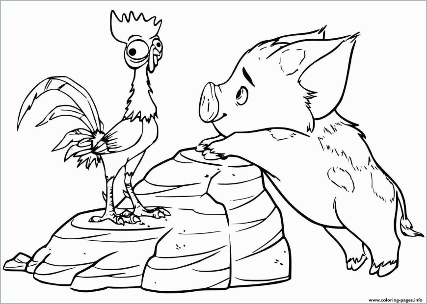 Moana Coloring Pages Pdf Moana Coloring Book Pdf Admirable Pua Pet Pig Moana Coloring Pages